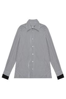 Черно-белая рубашка в полоску Aalto
