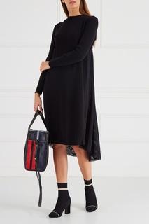 Черное трикотажное платье Iceberg
