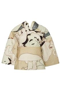 Хлопковая блузка в японском стиле Awake