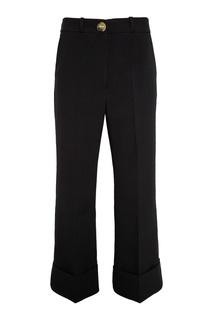 Черные брюки с отворотами Awake