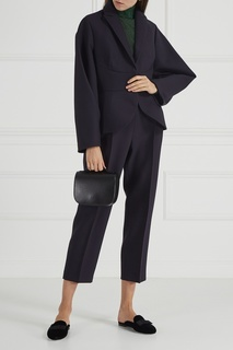 Черные брюки со складками Delpozo