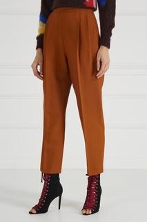 Оранжевые брюки со складками Delpozo