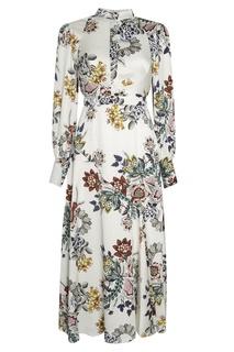 Шелковое платье с цветочным принтом Orlena Erdem