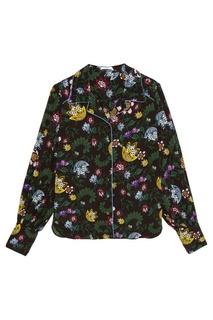 Шелковая блузка с цветочным принтом Fae Erdem