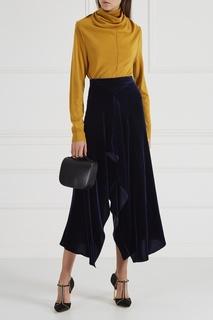 Асимметричная бархатная юбка Roland Mouret