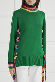 Шерстяной свитер с яркими лентами Mira Mikati
