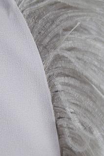 Платье-миди с перьями A LA Russe