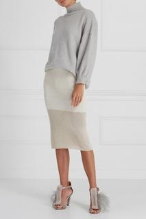 Трикотажная юбка с люрексом A LA Russe