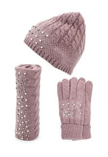 Комплект шапка, шарф и перчатки Vitacci