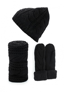 Комплект шапка, шарф и варежки Vitacci