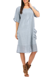 Платье 100% lin blanc