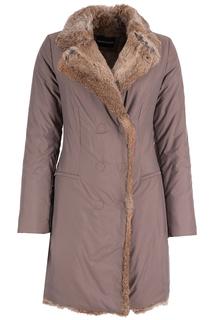 Пальто с мехом кролика Emporio Armani
