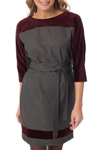 Свободное платье с укороченными рукавами Gloss