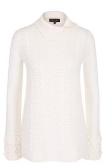 Кашемировый свитер фактурной вязки Loro Piana