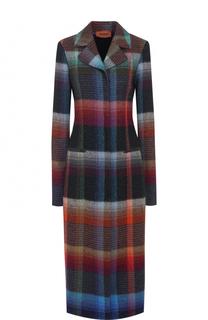 Приталенное удлиненное пальто с принтом Missoni