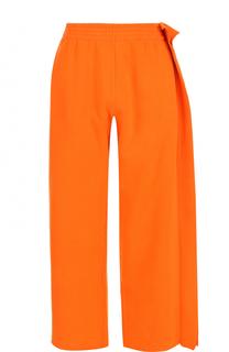Хлопковые брюки с эластичным поясом Mm6