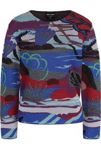 Пуловер с круглым вырезом и принтом Giorgio Armani