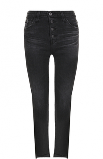 Укороченные джинсы с потертостями Ag