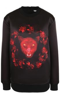 Свитшот с круглым вырезом и принтом Givenchy