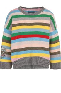 Шерстяной пуловер свободного кроя с в полоску Zadig&Voltaire Zadig&Voltaire