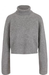 Укороченный кашемировый свитер с высоким воротником Michael Kors