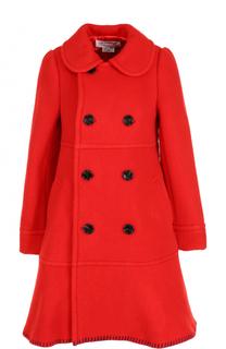Шерстяное двубортное пальто Comme des Garcons GIRL