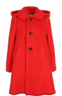 Двубортное шерстяное пальто с капюшоном Comme des Garcons GIRL