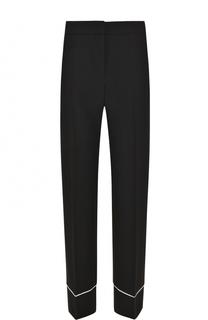 Укороченные брюки прямого кроя с контрастной отделкой BOSS