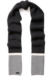 Шерстяной вязаный шарф Z Zegna