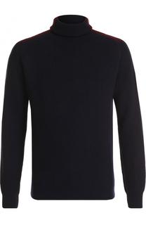 Шерстяной свитер фактурной вязки с воротником-стойкой Cruciani