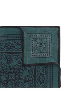Шерстяной платок с узором Kiton
