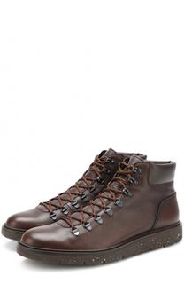Кожаные ботинки на шнуровке Hogan