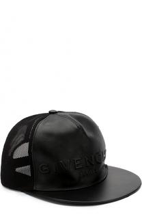 Бейсболка с кожаной вставкой Givenchy