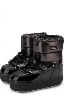 Утепленные сапоги-луноходы на шнуровке Jog Dog