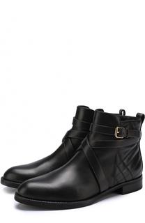 Кожаные ботинки с ремешками Burberry