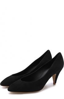 Замшевые туфли на каблуке kitten heel Mansur Gavriel
