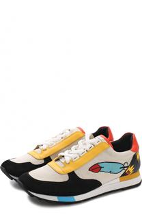 Комбинированные кроссовки Gavinia с принтом Bally