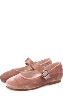 Текстильные туфли с лаковым ремешком Beberlis