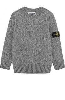 Пуловер джерси с нашивкой Stone Island