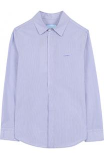 Хлопковая рубашка прямого кроя Lanvin
