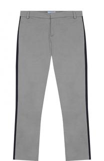 Хлопковые брюки с лампасами Lanvin