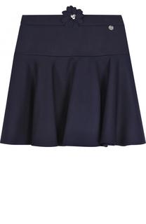 Шерстяная юбка с аппликацией Lanvin