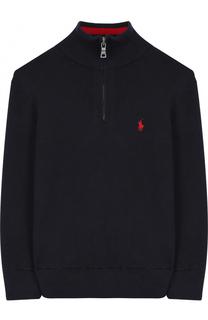 Хлопковый свитер с логотипом бренда Polo Ralph Lauren