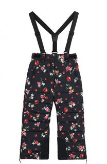 Пуховые брюки с подтяжками Dolce & Gabbana