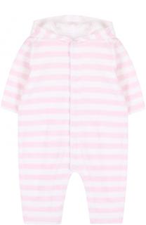 Хлопковая пижама в полоску с капюшоном Kissy Kissy