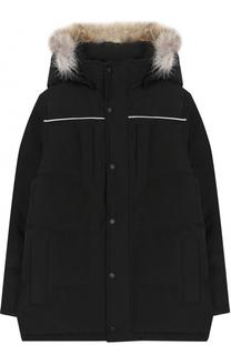 Пуховая куртка Eakin с меховой отделкой на капюшоне Canada Goose