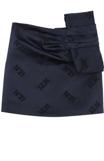 Мини-юбка из полиэстера с бантом No. 21