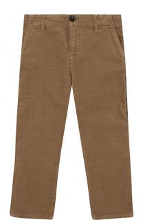 Хлопковые брюки с лампасами Gucci