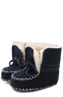 Замшевые пинетки на шнуровке Polo Ralph Lauren