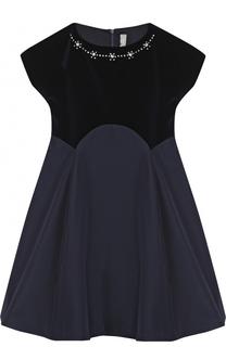 Приталенное платье с кристаллами Il Gufo